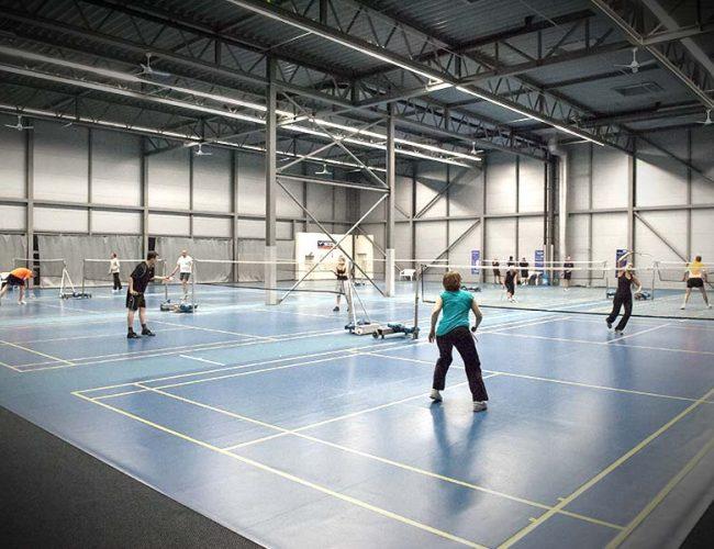 Cabrio Sport Badmintonhalle Spieler